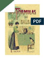 100 Formulas Para Preparar Salsas - Por Saturnino Callejas