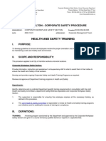 Health and Safety Training Procedure