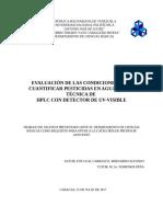 EVALUACIÓN DE LAS CONDICIONES PARA CUANTIFICAR PESTICIDAS EN AGUA POR LA TÉCNICA DE HPLC CON DETECTOR DE UV-VISIBLE