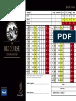 Old Course Scorecard 2015