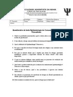 Estudo Dirigido Sobre Os Textos Epidemiologia e Dependência de Tabaco.