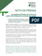 NP Los Equipos de Pronisa, De Nuevo En