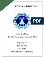 Auditing Scam Toshiba