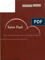 St Paul. the Foundation of Universal Ism
