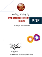 Syed Zafar Mahmood Nikah A