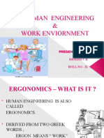Human Engineering  & Work Environment