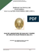Guia de Laboratorio de Analisis y Diseño de Circuitos Electronicos (Ml-831)