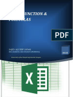 Excel function and formulas
