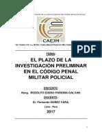 EL PLAZO DE LA INVESTIGACIÓN PRELIMINAR EN EL CÓDIGO PENAL MILITAR POLICIAL2.docx