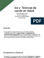 Modelos y Técnicas de Educación en Salud 2019 I