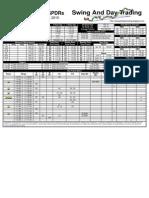 Trading Sheets for Monday, November 1, 2010