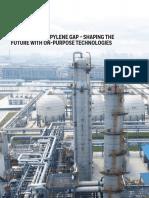 Filling the Propylene Gap on Purpose Technologies