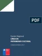 Fondart Regional Patrimonio Cultural 2017