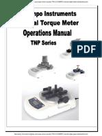 Taquimetros Torcometros Digitales Para Tapas Cierres Roscados Tpn 0 5 Shimpo Manual Ingles
