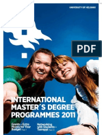 International Masters Degree Programmes