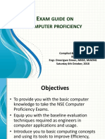 Exam Guide on Computer Proficiency
