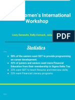 Jewish Women's International Workshop
