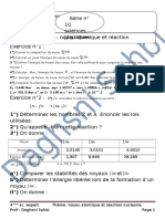 SERIIE N° 10 NOYAU ATOMIQUE ET REACTION NUCLEAIRE.doc