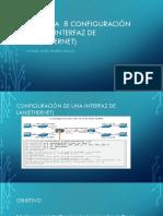 Practica 8 Configuración de Una Interfaz de LAN(Ethernet