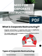 Need for Corporate Restructuring