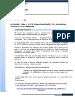 INSTRUÇÕES - Depósito de Dissertação (UMa) 2017.2