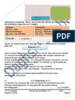 DEVOIR DE  SYNTHESE N°3 BAC SC EXERT