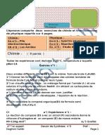 DEVOIR DE  SYNTHESE N°3 BAC SC EXERT
