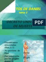 Secretos de Daniel, Cap. 3