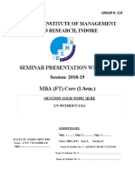 Seminar Presentation Write Up Format FT I 1 Google Docs