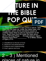 Nature in the Bible Pop Quiz