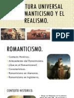 Literatura Universal Del Romanticismo y El Realismo