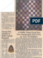 quilt newspaper article