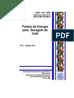 Fontes de energia para secagem de café.