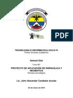 Infograma Hidraulica, Neumatica y Proyecto