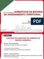 AVANCES NORMATIVOS EN MATERIA DE ORDENAMIENTO TERRITORIAL