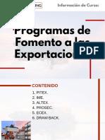Curso Programas de Fomento a las Exportaciones
