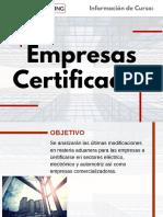 Curso Empresas Certificadas