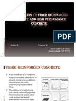Application of Fiber Reinforced Concrete And