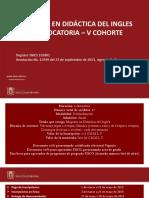 Maestria en Didactica Del Ingles v Cohorte