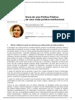 BUCCI, Quadro de Referência de Uma Política Pública_ Primeiras Linhas de Uma Visão Jurídico-Institucional