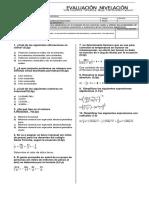 Nivelacion matematicas 7