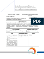 Expedicion de Documentos y Placas de Circulacion Por Otorgamiento de Concesiones Permisos Para El Transporte Publico y Mercantil (1)
