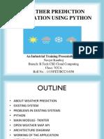 Weather Prediction aplication
