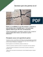 Causas y Soluciones Para Las Grietas en El Cemento