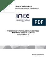 Procedimiento Para El Levantamiento de Inventario Fisico Del Almacen(1)