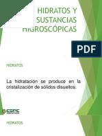 Clase 3. Hidratos y Sustancias Higroscópicas