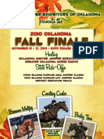Hunter Jumper Exhibitors of Oklahoma 2010 Fall Finale Prize List