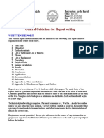 Guidelines for Report Writting