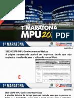 [IC]™INFORMÁTICA-MARATONA I - MPU 2018 GRANCURSOS