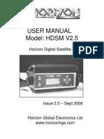HDSM USER manual